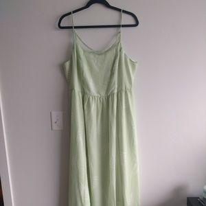 Modcloth green maxi dress